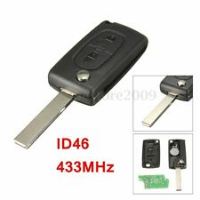 2 BNT ID46 433MHz Transponder Chips Remote Fob Key For Peugeot 207 307 308 407