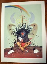 """Native American """"FLOWER OF LIFE"""" Lithograph by RANCE HOOD Signed & Numbered"""