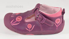 Startrite Ready Girls Purple Leather Buckle Shoes UK 4.5 E EU 21 US 5 RRP £30