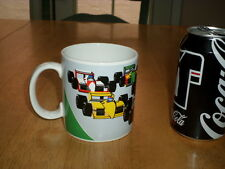 FORMULA RACE CARS - RACING, Ceramic Coffee Cup, VINTAGE