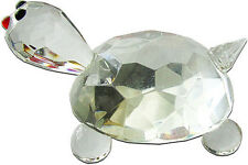 """Extrimely Cute Rock Crystal Figurine Tortoise Paper Weight 3.5"""" High"""