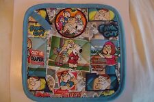 2 Handmade Pot Holders - FAMILY GUY 100% Cotton, MultiColor, TV, Made in the USA