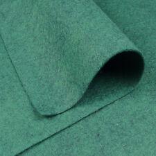 """9""""x18"""" Alpine Green Wool Felt Fabric / quilting toy doll card mottled teal dark"""