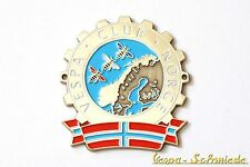 "Metall-Plakette ""Vespa Club Norge"" - Norwegen Norway Emblem V50 PK PX GL Badge"