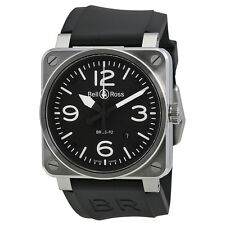 Bell and Ross Aviation Black Dial Steel Case Automatic 42 MM Mens Watch