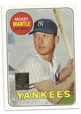 Mickey Mantle 1996 Topps Reprint Card # 12 1969Topps