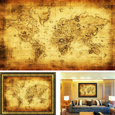FD3190 Vintage Style Retro Cloth Poster Globe Old World Nautical Map Poster 72cm