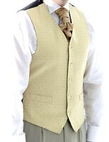 MENS AND PAGE BOYS PALE GOLD DIAMOND WEDDING DRESS SUIT WAISTCOAT ONLY £10 EACH