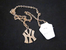 Seriously Blinging New York Rapper Style NY Gold Toned Necklace on Long Chain