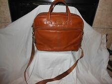 BRICS BROWN LEATHER CARRY ON BAG