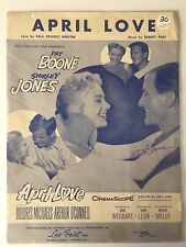 GENUINE HAND SIGNED VINTAGE SONG SHEET PERSONALLY SIGNED BY PAT BOONE