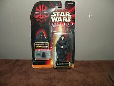 STAR WARS DARTH SIDIOUS FIGURE EPISODE 1 WITH COM TECH NEW ON CARD
