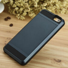 iPhone 5 6 7 Samsung Galaxy Slide Case Hidden Wallet Credit Card Slot ID Pocket
