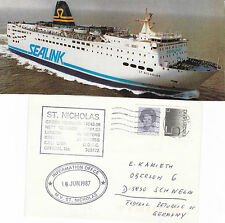 GB FERRY MV St NICHOLAS A SHIPS CACHED COVER & COLOUR MAGAZINE PICTURE