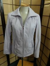 22332 Incredible Purple Woman's Leather Coat Jacket Size: Small Nine West