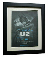 U2+Hold Me Thrill Me Kiss+POSTER+AD+RARE+ORIGINAL+1995+FRAMED+FAST GLOBAL SHIP