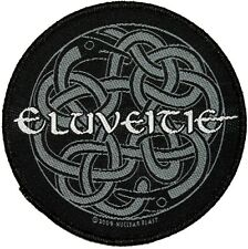 """Eluveitie"" Celtic Knot Band Logo Folk Metal Music Woven Sew On Applique Patch"