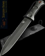 "Scorpion Todd Green 7"" Fixed Blade Fighting Knife Paul Cross Sheath T-GT-001 New"
