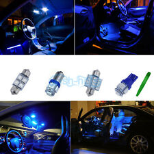 Interior Car LED Light KIT Package Xenon Blue For Peugeot 206CC convertible *P