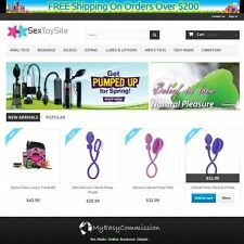 Established Sex Toys Adult Website Online Sale Drop Ship Free Domain Responsive