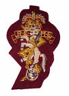 REME Airborne Maroon Officers Cap / Beret Badge ( Wire Embroided Engineers