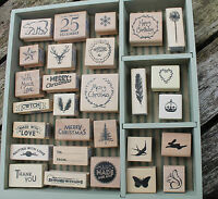 East of India wooden rubber stamp Christmas crafts DIY cards tags & scrapbooking