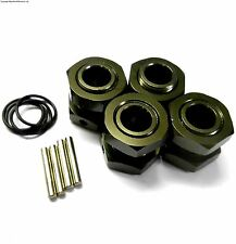 57885T 1/8 Scale RC Buggy M17 17mm Alloy Wheel Hubs Adapter Nut Pin Titanium