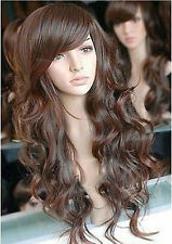 NEW315  long new popular Brown fashion lady's hair wig wigs for modern women