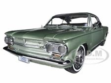 1963 CHEVROLET CORVAIR COUPE LAUREL GREEN 1/18 DIECAST MODEL CAR BY SUNSTAR 1483