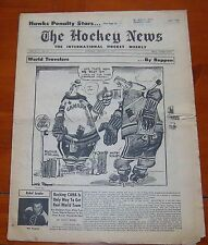 The Hockey News February 14 1959 Gordie Howe and Lou Fontinato fight