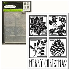 Christmas Square embossing folder by Darice embossing folders 30008379 words