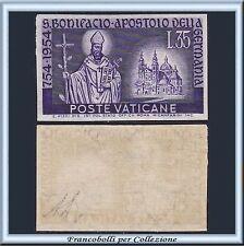 Vaticano 1955 San Bonifacio Lire 35 violetto Non Dentellato n. 193a  Nuovo **