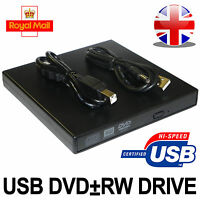 New External USB 2.0 DVD Rom Drive CD RW Writer Player For Netbook/PC/Laptop UK