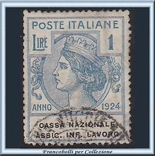1924 Italia Regno Enti Semistatali CASSA NAZIONALE ASSIC. INF LAVORO n. 22 Usato