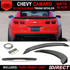 Chevrolet Camaro ZL1 Style Trunk Spoiler Wing Painted Matte Black