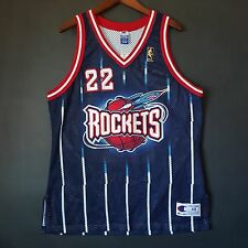 100% Authentic Clyde Drexler NBA @ 50th Champion Rockets Jersey 48 XL L