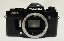Black FUJICA AX-3 35mm SLR Film Camera Body Only Tested Meter Working Damage
