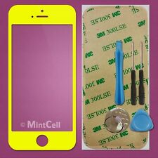 Yellow LCD Front Screen Glass Lens Replacement  for iPhone 5 + Sticker/Tools