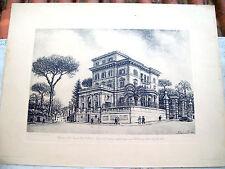 1951 SPLENDIDA ACQUAFORTE DI ANTONIO CARBONATI DA MANTOVA 'A.G.I.S. DI ROMA'