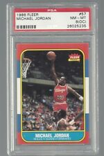 Michael Jordan Chicago Bulls 1986 Fleer #57 Rookie Card Rc PSA 8 (OC)