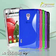 S Curve Gel Case For LG Optimus L7 II P713 L7 2 + SP TPU Jelly Skin Soft Cover