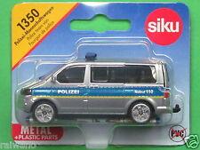 Siku Super Serie 1350 VW T5 facelift Polizei Mannschaftswagen geschlossene Felge