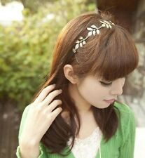 Fashion Cute Girls Retro Vintage Hollow Leaf Elastic Hair Band Headband Jewelry
