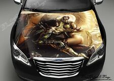 Demon Angel Full Color Graphics Adhesive Vinyl Sticker Fit any Car Hood #214