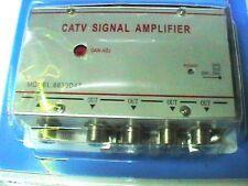 Amplificatore Tv 4 Uscite - Aumenta il segnale digitale terrestre laddove serve
