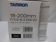NEW Tamron 18-200mm F/3.5-6.3 Di III VC Model B011 Blackfor Sony E mount APS-C