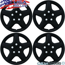 "4 NEW OEM MATTE BLACK 15"" HUB CAPS FITS JEEP SUV CAR CENTER WHEEL COVERS SET"