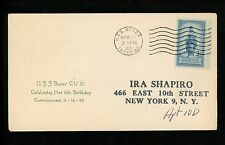 US Naval Ship Cover USS Boxer CV-21 Korean War 4/16/1951 Carrier Birthday
