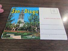 SAN DEGO CALIFORNIA - POSTCARD FOLDER  14 PHOTOs VG