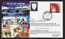 SIGNED FDC COVER BRIGADIER WINGATE GRAY BLACK WATCH MILITARY CROSS SICILY ITALY